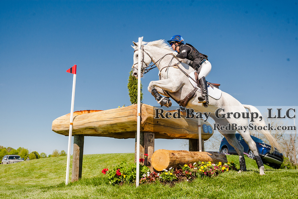 Allie Sacksen (USA) and Sparrow's Nio during the cross-country at the 2019 Land Rover Kentucky Three-Day Event presented by MARS EQUESTRIAN in Lexington, Kentucky