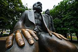 Statue of Karl Marx and Engels at Alexanderplatz in Mitte, Berlin, Germany