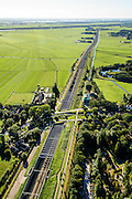 Nederland, Utrecht, Gemeente De Ronde Venen, 27-09-2015; Abcoude. Spoorweg aquaduct onder riviertje Gein.<br /> Railway aqueduct under river.<br /> luchtfoto (toeslag op standard tarieven);<br /> aerial photo (additional fee required);<br /> copyright foto/photo Siebe Swart