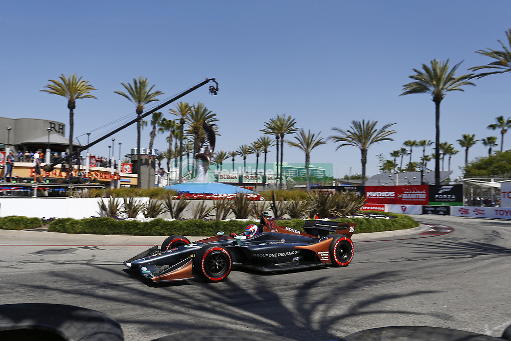 April 13, 2018 - Long Beach, California, United States of America - April 13, 2018 - Long Beach, California, USA: Zach Veach (26) takes to the track to practice for the Toyota Grand Prix of Long Beach at Streets of Long Beach in Long Beach, California. (Credit Image: © Justin R. Noe Asp Inc/ASP via ZUMA Wire)