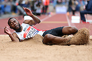 Nonso Okolo competing in the Men's Triple Jump final. The British Championships 2016, athletics event at the Alexander Stadium in Birmingham, Midlands  on Saturday 25th June 2016.<br /> pic by John Patrick Fletcher, Andrew Orchard sports photography.