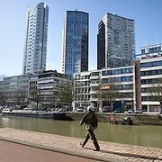 Nederland Rotterdam 21-03-2009 20090321Foto: David Rozing ..Rotterdam centrum, wijnhaven kwartier, hoogbouw flats.  wijnhaven wijnhaveneiland City view Rotterdam, highrising buildings, sunny day. Foto: David Rozing