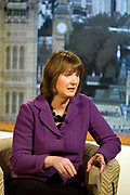 Harriet Harman MP, Labour Party politician appearing on the BBCs Andrew Marr show on 31 January 2010 in London, United Kingdom.