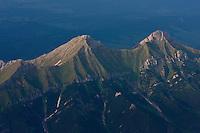 Aerial view of mount Havran (2152m asl) in the White Tatras. High Tatras, Slovakia. June 2009. Mission: Ticha