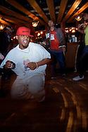 House dancer at In da House Digress Bar, London, November 2007