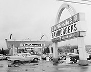 deLay621120-11. McDonald's drive-in, on Beaverton Highway. (possibly third McDonalds in area. Over 700 million served sign.) NWNG ad. November 20, 1962 (Location on SW Beaverton Hillsdale Highway at Jamieson.