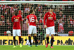 Manchester United players look dejected after conceding the second goal - Mandatory by-line: Matt McNulty/JMP - 26/02/2017 - FOOTBALL - Wembley Stadium - London, England - Manchester United v Southampton - EFL Cup Final