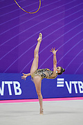 Averina Dina during final at hoop in Pesaro World Cup at Virtifrigo Arena on may 30, 2021. Dina is the 2017-2018-2019 World All-around Champion. She was born on August 13, 1998 in Zavolzhye, Russia. Dina has a twin sister  Arina, she is also a great gymnast