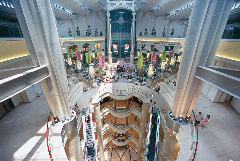 The five story shopping mall inside Taipei 101. It was finished before Taipei 101 which is to be completed late this year, 2004.