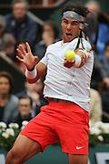 Paris, France. Roland Garros. June 9th 2013.<br /> Men's final. <br /> Spanish player Rafael NADAL against David FERRER
