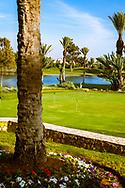 08-10-2015 -  Foto van Putting green bij Golf du Soleil in Agadir, Marokko. De 36 holes van Golf du Soleil werden ontworpen door Fernando Muela en Gerard Courbin.