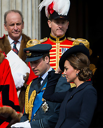 © London News Pictures. 13/03/2015. Catherine Duchess of Cambridge and Prince William attend a service of commemoration to mark the end of combat operations in Afghanistan, at St Paul's Cathedral in London. Photo credit: Ben Cawthra/LNP