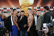 Boxen: World Boxing Super Series, Ali-Trophy, Cruisergewicht, Viertelfinale, WBO-Weltmeisterschaft,Weight in,  Berlin, 08.09.2017<br /> Oleksandr Usyck (UKR) - Marco Huck (GER)<br /> © Torsten Helmke