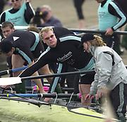 Hammersmith, London. 2002 University Boat Race, 26/3/2002, Tideway Week,<br /> <br /> 2002 Varsity Boat Race<br /> 27/3/2002<br /> Cambridge Blue Boat training.<br /> Rick DUNN<br /> <br /> [Mandatory Credit; Peter SPURRIER/Intersport Images] 20020327 University Boat Race, [Varsity],  Tideway Week. Putney. London
