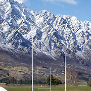Jonny Wilkinson warms up for kicking practice at the Queenstown Events centre with the stunning backdrop of fresh snowfall on the Remarkables mountain range as England  in prepare for their match with Georgia during the IRB Rugby World Cup tournament.   Queenstown, New Zealand, 15th September 2011. Photo Tim Clayton...