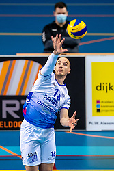 Dennis Borst of Lycurgus in action during the league match between Draisma Dynamo vs. Amysoft Lycurgus on March 13, 2021 in Apeldoorn.