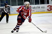 Ishockey<br /> 4. semifinale i NM<br /> Lørenskog Ishall 22.03.10<br /> Lørenskog - Stavanger Oilers<br /> Teemu Kuusisto<br /> Foto: Eirik Førde