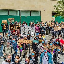 Black lives matters in Swindon Regent circus protest against the racism in the UK and the death of George Floyyd in America 1/6/2020 Swindon BLM protests Regent circus demonstration and protest against racism and the police brutality 1/6/2020