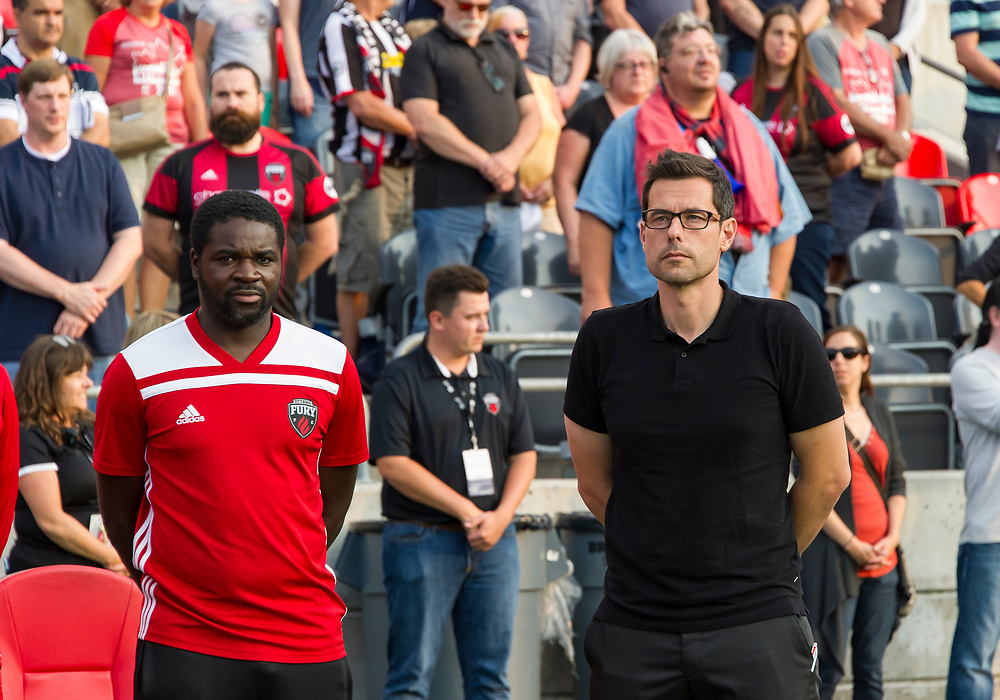 OTTAWA, ON - AUGUST 15: USL match between the Ottawa Fury FC and the Richmond Kickers at TD Place Stadium in Ottawa, ON. Canada on August 15, 2018.<br /> <br /> PHOTO: Steve Kingsman/Freestyle Photography for Ottawa Fury FC