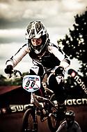 Sarah Walker (NZL) during the practice round of the UCI BMX Supercross World Cup, Pietermaritzburg, 2011