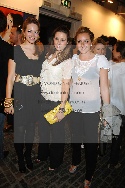 Left to right, VANESSA TEAGUE, KELLY EASTWOOD and NATASHA CORRETT at the launch of 'Glenmorangie 5 Senses' an exhibition of photographs by Mike Figgis held at Proud Camden, Stables Market, London NW1 on 13th May 2008.<br /><br />NON EXCLUSIVE - WORLD RIGHTS