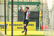 GOAL! Mihai Popescu of St Mirren celebrates in front of the home fans after scoring the equaliser during the Ladbrokes Scottish Premiership match between St Mirren and Dundee at the Paisley 2021 Stadium, St Mirren, Scotland on 30 March 2019.