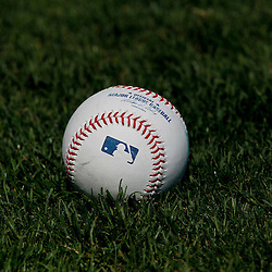 March 17, 2012; Lakeland, FL, USA; A detail of a baseball on the ground before a spring training game between the Detroit Tigers and the St. Louis Cardinals at Joker Marchant Stadium. Mandatory Credit: Derick E. Hingle-US PRESSWIRE