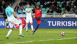 Danny Rose of England shoots at goal - Mandatory by-line: Robbie Stephenson/JMP - 11/10/2016 - FOOTBALL - RSC Stozice - Ljubljana, England - Slovenia v England - World Cup European Qualifier