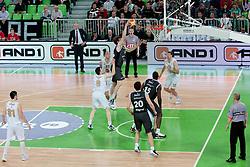 Jan Vesely Veseli of Partizan during final match of Basketball NLB League at Final Four tournament between KK Union Olimpija (SLO) and Partizan Belgrade (SRB), on April 21, 2011 at SRC Stozice, Ljubljana, Slovenia. (Photo By Matic Klansek Velej / Sportida.com)