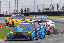 May 6, 2018 - Lexington, Ohio, United States of America - The 3GT Racing Lexus RCF GT3 car races through the keyhole turn during the the Acura Sports Car Challenge at Mid Ohio Sports Car Course in Lexington, Ohio. (Credit Image: © Walter G Arce Sr Asp Inc/ASP via ZUMA Wire)