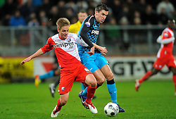 22-01-2012 VOETBAL: FC UTRECHT - PSV: UTRECHT<br /> Utrecht speelt gelijk tegen PSV 1-1 / (L-R) Johan Martensson, Kevin Strootman<br /> ©2012-FotoHoogendoorn.nl
