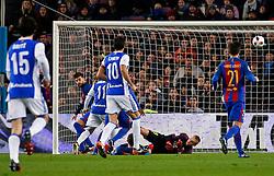 January 26, 2017 - Barcelona, Spain - Juanmi goal during the 1/4 final King Cup match between F.C. Barcelona v Real Sociedad, in Barcelona, on January 26, 2017. (Credit Image: © Joan Valls/NurPhoto via ZUMA Press)