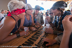 The new Broken Spoke area of the Iron Horse Saloon during the Sturgis Black Hills Motorcycle Rally. SD, USA.  Wednesday, August 10, 2016.  Photography ©2016 Michael Lichter.