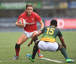 Wales Jasmine Joyce and South Africa Vuyolwethu Maqholo<br /> <br /> Wales Women v South Africa Women<br /> Autumn International<br /> <br /> Photographer Mike Jones / Replay Images<br /> Cardiff Arms Park<br /> 10th November 2018<br /> <br /> World Copyright © 2018 Replay Images. All rights reserved. info@replayimages.co.uk - http://replayimages.co.uk