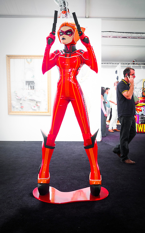 Fiberglass and silicone statue by Colin Christian at the Scope Art Fair in Midtown Miami during Art Basel 2012