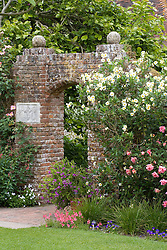 The Bishop's Gate entrance to the White Garden at Sissinghurst Castle
