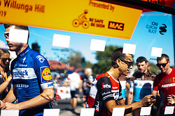 January 20, 2019 - Adelaide, South Australia, Australia - Richie Porte (centre), Team Trek Segafredo, at sign in, Stage 6 of the Tour Down Under, Australia on the 20 of January 2019  (Credit Image: © Gary Francis/ZUMA Wire)