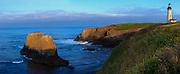 USA, Oregon, Newport, Yaquina Head, NLCS, the Yaquina Head Lighthouse, Digital Composite, panorama