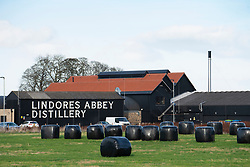View of Lindores Abbey Distillery in Newburgh, Fife, Scotland, UK