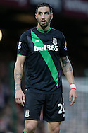 Geoff Cameron of Stoke City looks on. Barclays Premier league match, West Ham Utd v Stoke city at the Boleyn Ground, Upton Park  in London on Saturday 12th December 2015.<br /> pic by John Patrick Fletcher, Andrew Orchard sports photography.