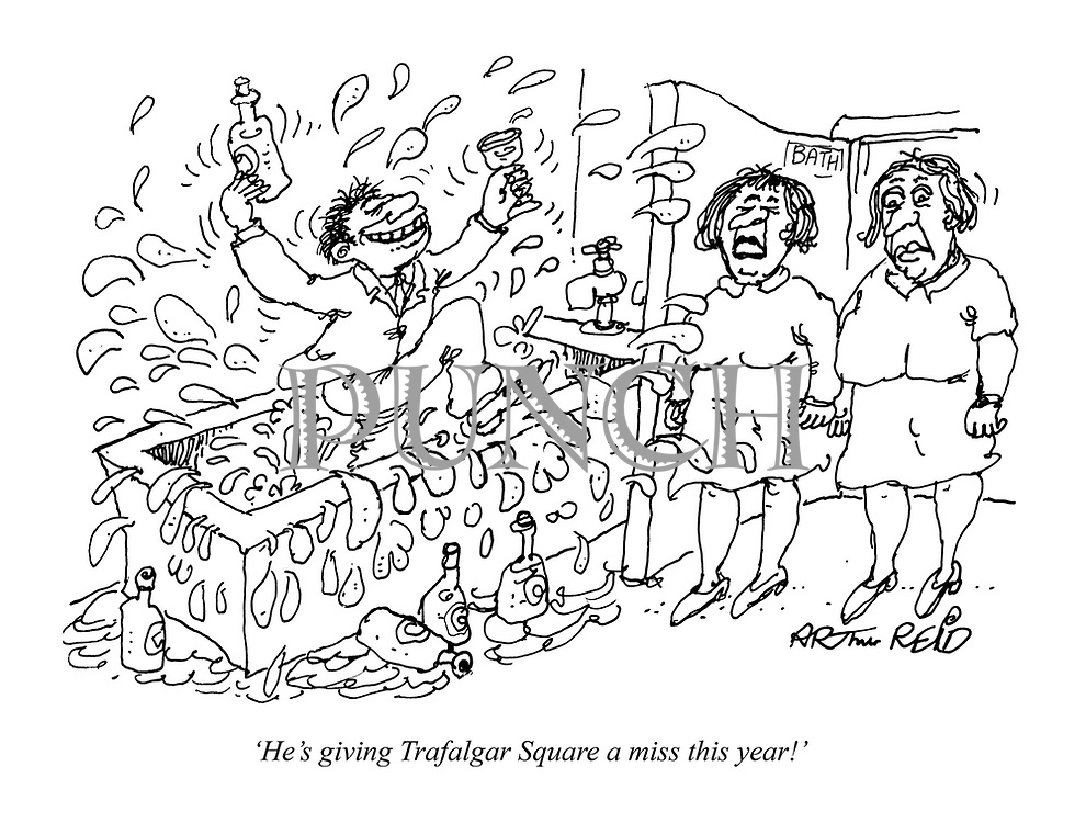 'He's giving Trafalgar Square a miss this year!'