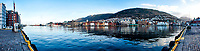 Historic Bergen from across the harbor. Composite of six images taken with a Nikon 1 V2 camera and 10 mm lens (ISO 200, 10 mm, f/8, 1/100 sec). Raw images processed with Capture One Pro and the composite created using AutoPano Giga Pro.