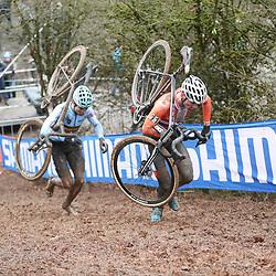 29-01-2017: Wielrennen: Wereldkampioenschap veldrijden: Luxemburg<br />BIELES (LUX) cyclocross  <br />Mathieu van der Poel, Wout van Aert