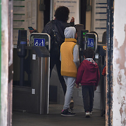 © Licensed to London News Pictures. 16/09/2017. London, UK. Parsons Green station in London open to the public the day after a bomb partly exploded on a tube train at Parsons Green station in London injuring members of the public. Operation temperer has been put in to place after the UK terror threat level was raised to critical. Photo credit: Ben Cawthra/LNP