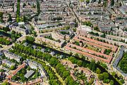 Nederland, Noord-Holland, Amsterdam, 29-06-2018; Amsterdam-Zuid,  Duivelseiland met onder andere Reijnier Vinkeleskade.<br /> Southern part of Amsterdam.<br /> <br /> luchtfoto (toeslag op standard tarieven);<br /> aerial photo (additional fee required);<br /> copyright foto/photo Siebe Swart