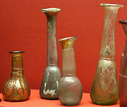 glass perfume bottles or jars, Greco-Egyptian 1st century AD