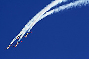 4 Israeli Air force Fouga Magister in aerobatics display