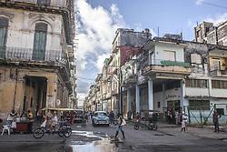 November 23, 2016 - Havana, Cuba - A typical street in Habana Vieja (Old Havana) in Havana, Cuba, on 23 November 2016. (Credit Image: © Alvaro Fuente/NurPhoto via ZUMA Press)