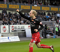 Fotball tippeligaen 12.04.08 Rosenborg ( RBK ) - Fredikstad,<br /> Hans Erik Ramberg etter scoring,<br /> Foto: Carl-Erik Eriksson, Digitalsport