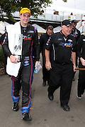 Race winner Shane van Gisbergen (SP Tools Racing) with Ross Stone. ITM 400 ~ Race 5 & 6 of the 2011 V8 Supercar Championship Series. Hamilton Street Circuit on Sunday 17 April 2011. Photo © Clay Cross / PHOTOSPORT